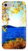 Lake Coeur D'alene Through Golden Leaves IPhone Case