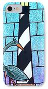 Lighthouse And Heron IPhone Case