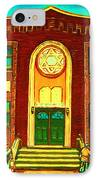 Lubavitch Synagogue IPhone Case