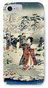 Maids In A Snow Covered Garden IPhone Case