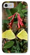 Matched Pair Of Sulfur Butterflies IPhone Case