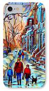 Mile End Montreal Neighborhoods IPhone Case