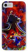 Montage In Reds And Blues IPhone Case