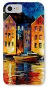 Night Resting Original Oil Painting  IPhone Case