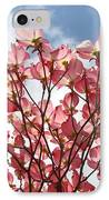 Office Art Prints Blue Sky Pink Dogwood Flowering 7 Giclee Prints Baslee Troutman IPhone Case