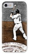 Omar Quintanilla Pro Baseball Player IPhone Case