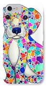 Painted Puppy IPhone Case