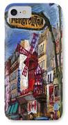 Paris Mulen Rouge IPhone Case