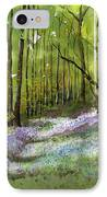 Path Through Bluebell Wood IPhone Case