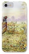 Pheasants In Woodland IPhone Case