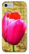 Pink Impression Tulip IPhone Case
