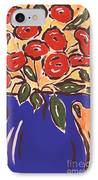 Poppies In Blue Vase 2001 IPhone Case