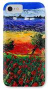 Poppies In Provence IPhone Case