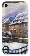 Prague Chertovka Winter 01 IPhone Case