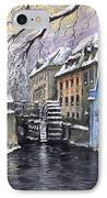 Prague Chertovka Winter IPhone Case