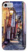 Prague Old Street Golden Line IPhone Case