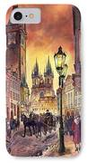 Prague Old Town Squere IPhone Case