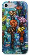 Rain Fantasy Acrylic Painting  IPhone Case