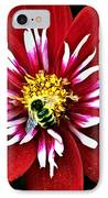 Red And White Flower With Bee IPhone Case