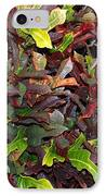 Red Green Leaves IPhone Case