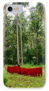 Red In The Jungle IPhone Case