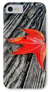 Red Leaf IPhone Case