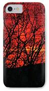 Red Sunrise Over The Ozarks IPhone Case