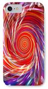 Red Twirl IPhone Case
