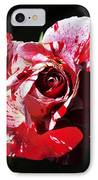 Red Verigated Rose IPhone Case