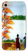 Romance In Autumn IPhone Case