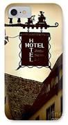 Rothenburg Hotel Sign - Digital IPhone Case