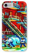 Rowhouses And Hockey IPhone Case