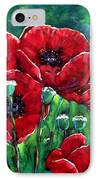 Rubies In The Emerald Forest IPhone Case