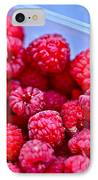 Ruby Raspberries IPhone Case