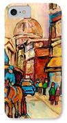 Rue St Jacques Old Montreal Streets  IPhone Case