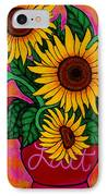 Saturday Morning Sunflowers IPhone Case