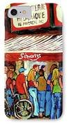 Schwartzs Deli Lineup IPhone Case