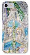 Scott And Zelda In Their New York Dream Tower IPhone Case