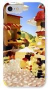 small urban market on Capri island IPhone Case