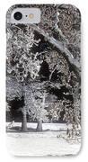 Snow Covered Black Oak Yosemite National Park IPhone Case