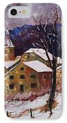 Snow In Chassepierre  IPhone Case