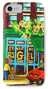 Soccer Game At The Bagel Shop IPhone Case