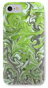 Soft Green And Gray Abstract IPhone Case