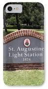 St. Augustine Florida Lighthouse IPhone Case