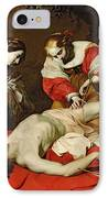 St Sebastian Tended By The Holy Irene IPhone Case