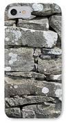 Stone Wall Detail Doolin Ireland IPhone Case