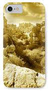 Strange Rock Formations At El Torcal Near Antequera Spain IPhone Case