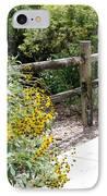 Sun Flower Fence IPhone Case
