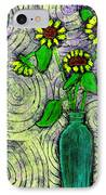 Sunflowers In A Green Vase IPhone Case