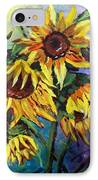 Sunflowers In The Rain IPhone Case